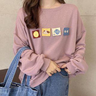 Oolun - Patched Sweatshirt