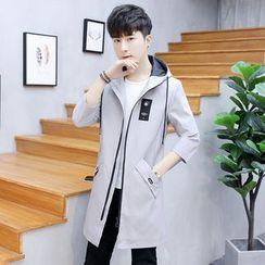 Andrei - Hooded Printed Zip Jacket