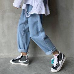 KOKAY - Washed Straight-Cut Jeans