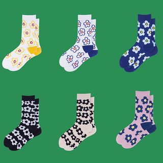 ASAIDA - Flower Print Socks (Various Design)