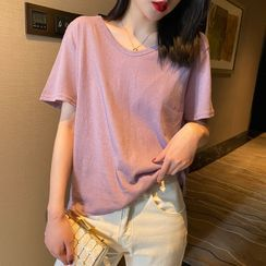 Jalynn - Short-Sleeve Loose T-Shirt in 7 Colors