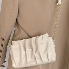 Emvee - Faux Leather Crinkled Handbag