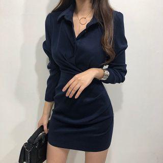 Pomona - Long-Sleeve Sheath Shirt dress