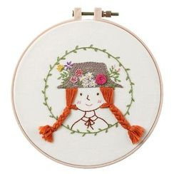 Embroidery Kingdom - Girl / Flower  DIY Embroidery Kit