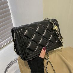 FINO - Mini Quilted Flap Chain Crossbody Bag