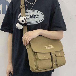 EAVALURE - Multi-Section Canvas Crossbody Bag