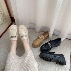 Chicli - 纯色链条乐福鞋