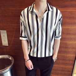 Ferdan - Striped Elbow Sleeve Shirt
