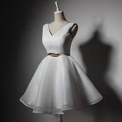 Wonhi - Sleeveless Mini Prom Dress