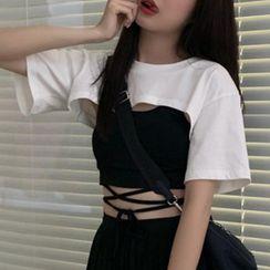Origal - 短款罩衫 / 吊帶背心