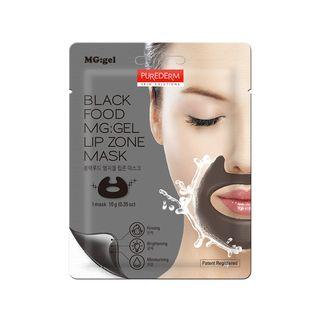 PUREDERM - Black Food MG:GEL Lip Zone Mask 1pc