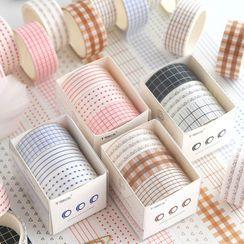 Katiz - 三件套裝:印花美紋紙膠帶(多款設計)