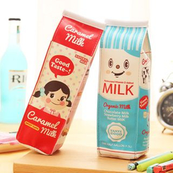 School Time - 牛奶卡通筆袋