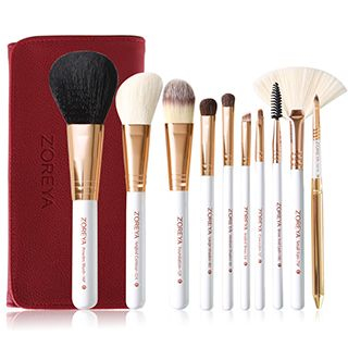 ZOREYA - Set of 10: Makeup Brushes