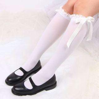 FlorSwallow - Bow Detail  Knee High Socks