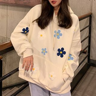 Dute - Flower Embroidered Hoodie