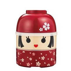 Hakoya - Hakoya Large Kokeshi 2 Layers Lunch Box Hanako