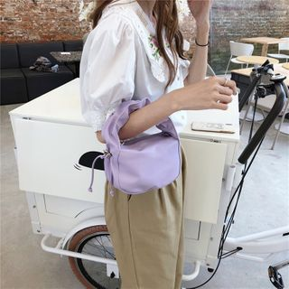 Minafox - Shirred Strap Zip Handbag