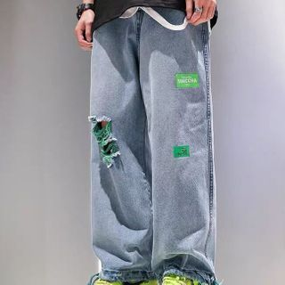 Cowpow - Ripped Wide-Leg Jeans