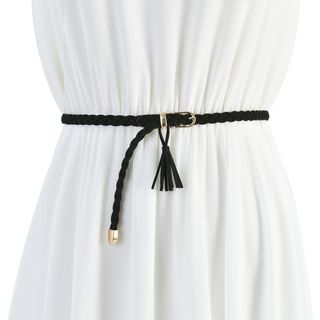 Palmi - 吊苏编织绳腰带