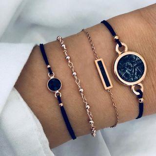 Yeoleum - Set of 4: Turquoise Bracelet (assorted designs)
