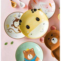 Modern Wife - Kids Animal Divided Ceramic Plate / Cup / Spoon