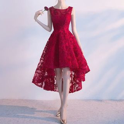 Remme - 无袖蕾丝礼服裙