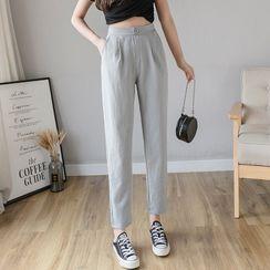 Emeraude - Harem Linen Dress Pants
