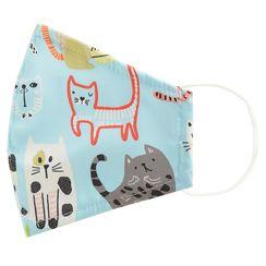 Miumi - Handmade Water-Repellent Fabric Mask Cover (Cat Print)(Adult)