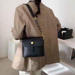 Bagtrix - Faux Leather Flap Crossbody Bag