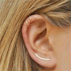 Zarafinus - Set of 3: Alloy Earring / Cuff Earring