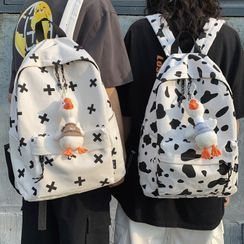Miss REI - Cow Print Canvas Backpack