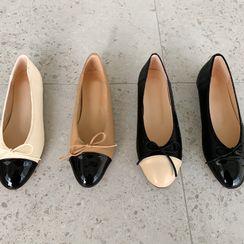 NANING9 - Toe-Cap Beribboned Flats