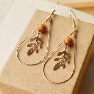 Nisen - Leaf Drop Earring