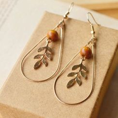 Nisen - Leaf Drop Earrings