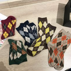 Small Planet - Argyle Socks / Set