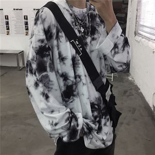 Giuliana - Oversized Tie Dye Long-Sleeve T-Shirt for Couples