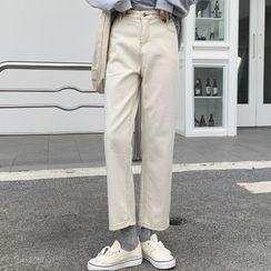 Moon City - 高腰直筒牛仔褲