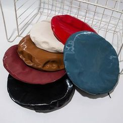 Hat Society - 仿皮贝雷帽