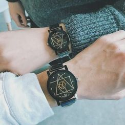 InShop Watches - Couple Matching Metal Strap Watch