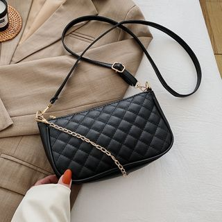 Diamante - Chain Quilted Crossbody Bag