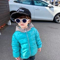 Blue Papa - 儿童插色连帽夹棉外套