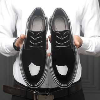 Snowpard - Patent Lace-Up Shoes