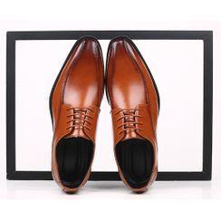Taragan - 仿皮低跟礼服牛津鞋