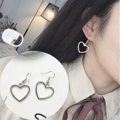 Ignar - Heart Drop Earrings