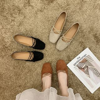 Nikao - Square Toe Strappy Flats
