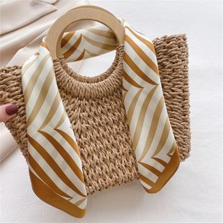 SOCOOL - Striped Silk Scarf