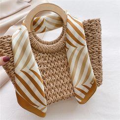 SOCOOL - Striped Silk Scarf