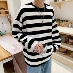 jaywoon - Long-Sleeve Striped T-Shirt