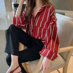 Enoki - Long-Sleeve Striped Shirt